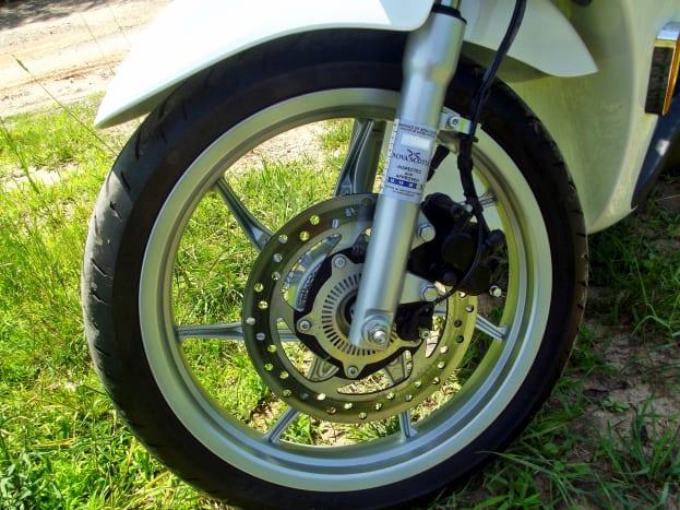 Front wheel of Piaggio Liberty 150