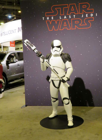 Star Wars exhibit at the Houston Auto Show