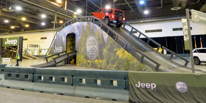 Camp Jeep inside the NRG Center