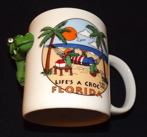 1993 Life's a Croc Florida Mug Cup