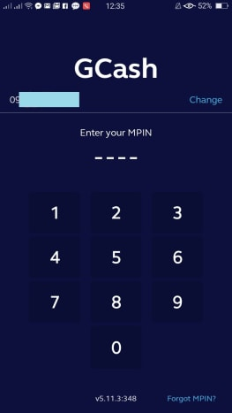 Step 1: Open the GCash app and enter your 4-digit MPIN.