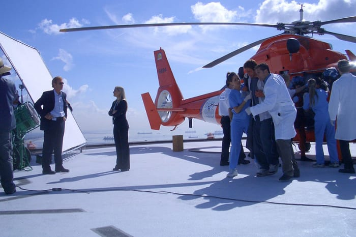 "On the set of ""CSI:Miami"", photo by the US Coast Guard/public domain."