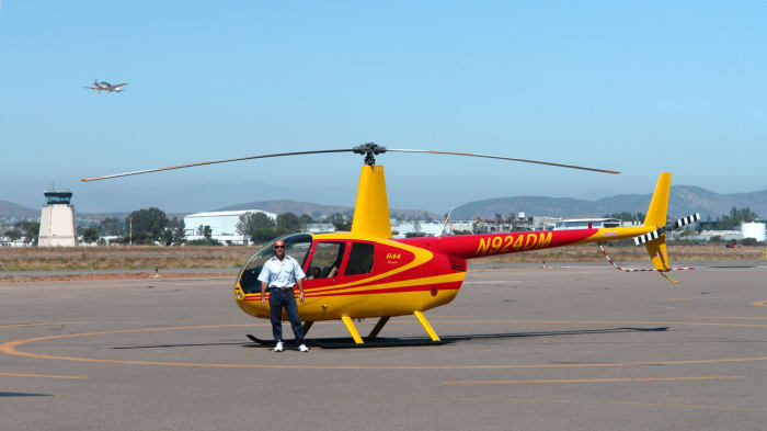 The Raven models are considered by many to be better personal helicopters than the R22, but they come at higher prices. (Pictured is the Raven I.)