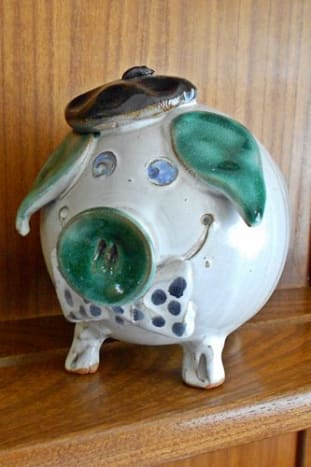 Collectibles like this Ark Pottery Piggy Bank can be bought second hand for just a few pence but turn a nice profit!