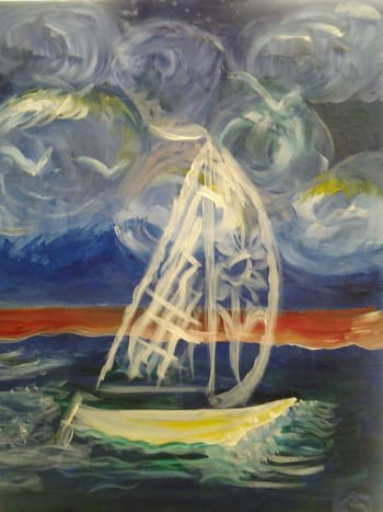 My sailboat painting