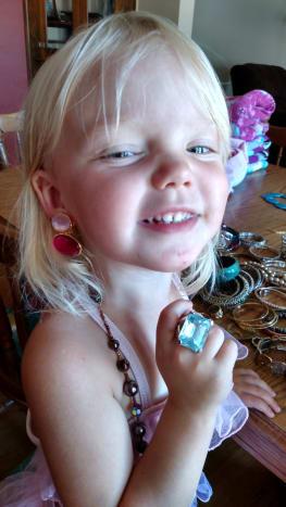 Jewelry display models.