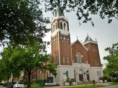 All Saints Catholic Church in Houston Heights