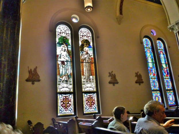 Beautiful stained-glass windows
