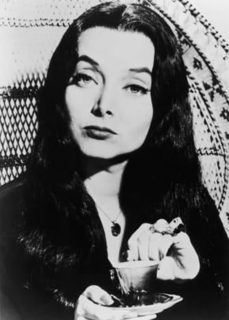 Carolyn Jones as Morticia in the mid 1960s