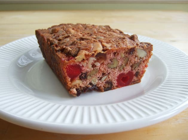 Most fruitcakes contain either dried or candied fruit, and some are prepared using liqueurs or other spirits so they can be stored without spoiling.