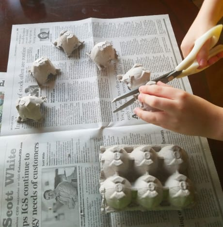 Cut out each individual shell.