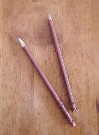 I used my pencils that I painted brown, but any pencils will work for this craft.