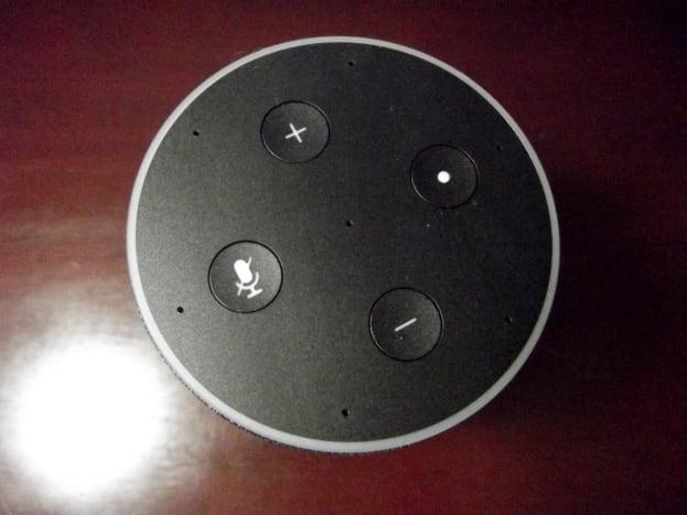 Amazon's Echo Smart Speaker feature four control buttons