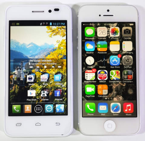 Beside a white iPhone 5