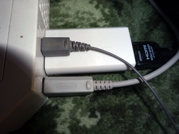 The HDMI adaptor for the Wii