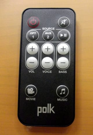 Remote control for Polk Audio SB1 Plus system