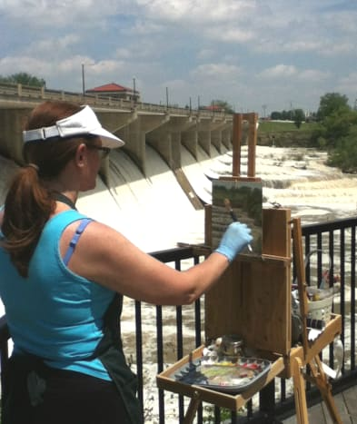Painting on location brings me joy.
