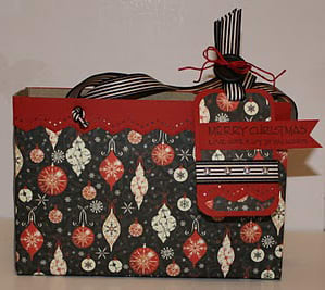 Cereal Box Gift Bag - Christmas