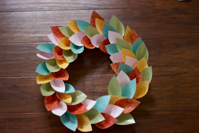 #1 Paper leaves wreath