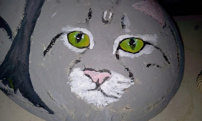 how-to-paint-stones-cat-portrait