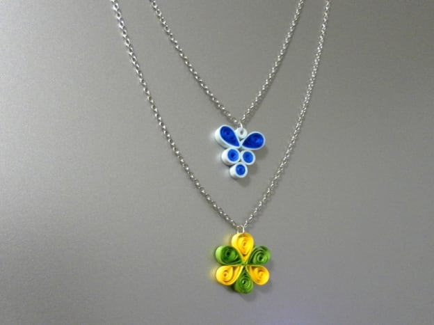 Quilled pendants