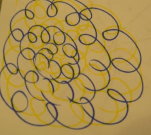 Before - Blue and Yellow swirls
