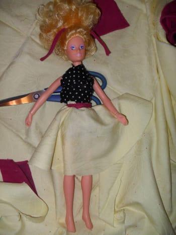 Easy Homemade Doll Skirt