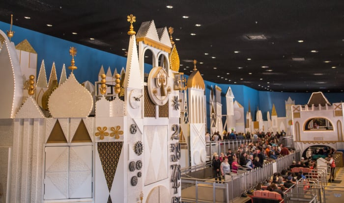 Queuing up for It's a Small World.
