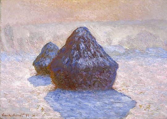 Haystacks: Snow Effect (1891) by Claude Monet