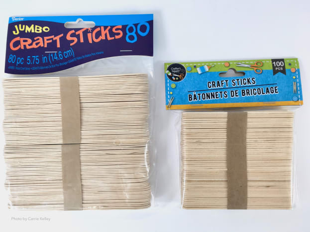Wood Craft Sticks for Acrylic Pouring - Craft sticks are useful for mixing paints and can also be used to create designs in your acrylic pours.