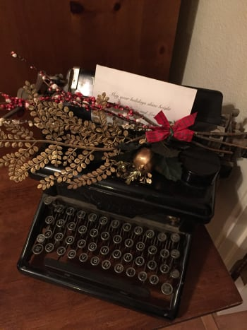 My old wood stock type writer decorated