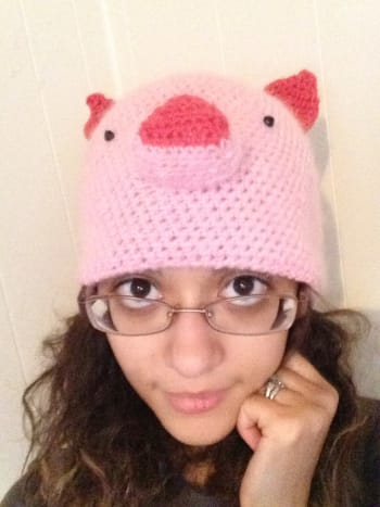 Crochet Piglet Hat