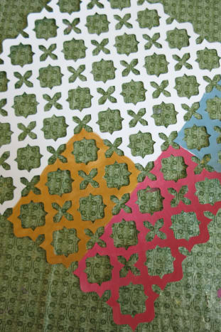 Scrapbook Paper Used as Decoration