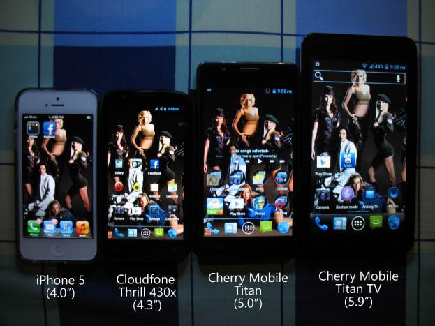 Screen size comparison