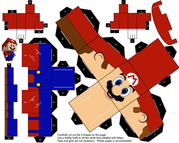 Papercraft Mario printable.