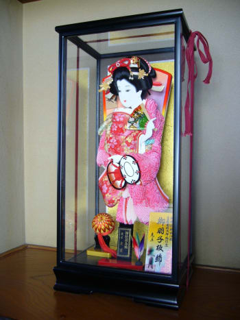 Another Hagoita in a display case