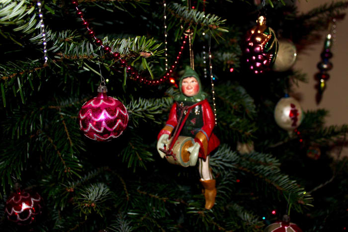 An ornament of the Little Drummer Boy.