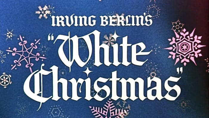 """Title screenshot from the theatrical trailer for the film """"White Christmas"""" (1954)"""