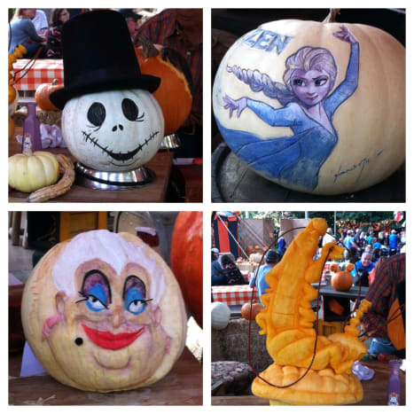 Expertly carved (or painted) pumpkins.