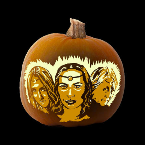 This is what the pattern will look like when carved into a pumpkin.