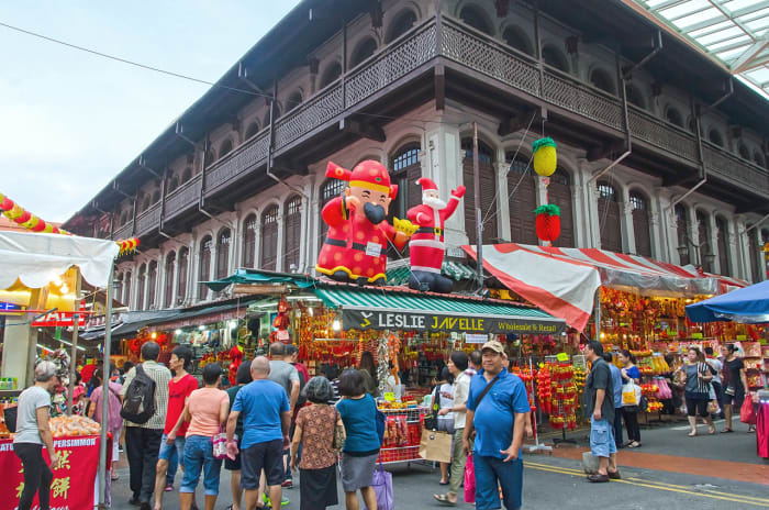 The Chinatown festive bazaar is open throughout the day, with peak hours being evening time.