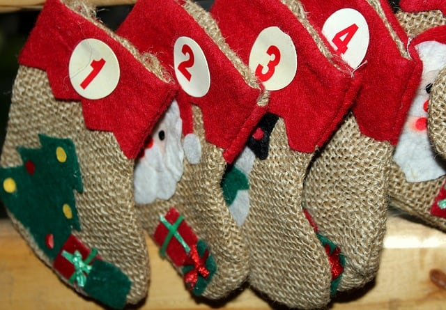 It would be easy to hang some stockings and add some labels to make a cute calendar.