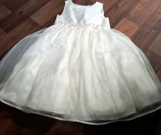 This is the white dress I modified for my Annabelle decoration.