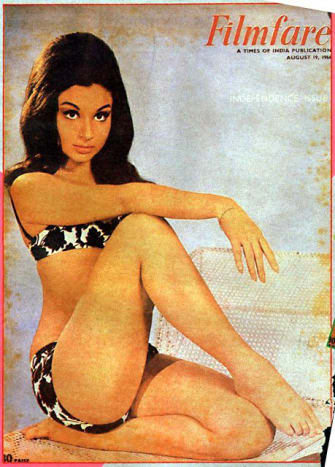 Sharmila on the cover page of Filmfare magazine 1966