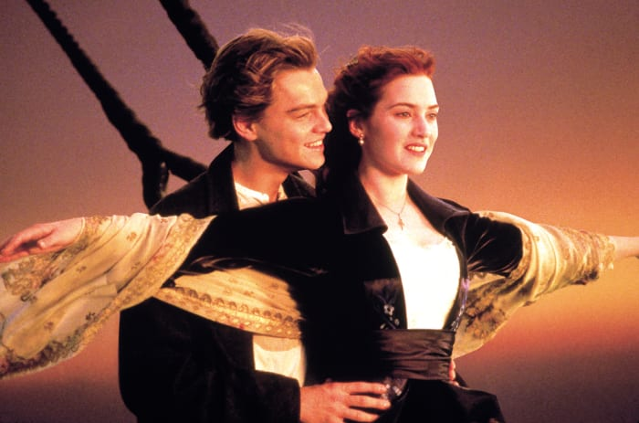 The iconic scene from Titanic.