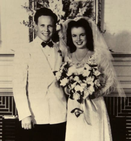 A 16-year-old Norma Jeane & Jim Dougherty.