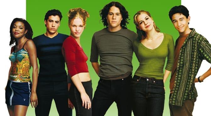 (From left): Gabrielle Union, Andrew Keegan, Julia Stiles, Heath Ledger, Larisa Oleynik and Joseph Gordon-Levitt.