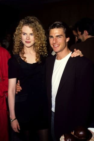 Kidman alongside then-husband Tom Cruise at the 1992 premiere of Far and Away.