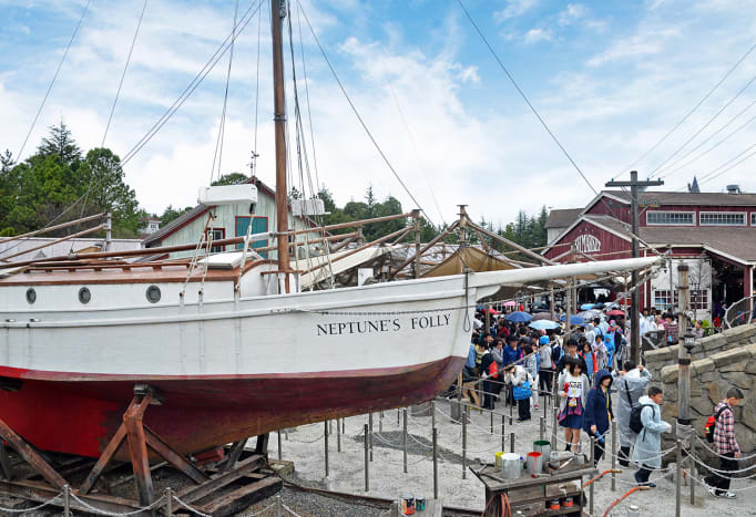 Recreation of Amity Island, one of the most famous horror movie locations, at Universal Studios Japan.