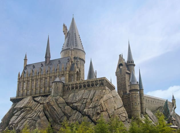 Replica of the famous Hogswart School of Witchcraft and Wizardry at Universal Studios Japan.